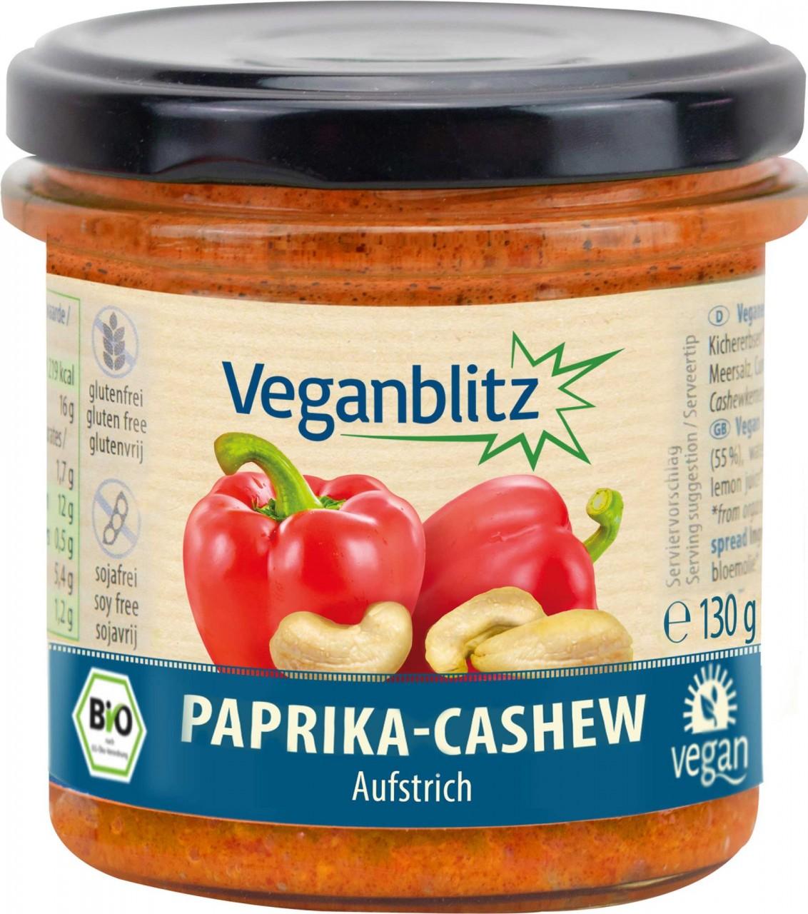 Veganblitz Paprika-Cashew Bio-Aufstrich
